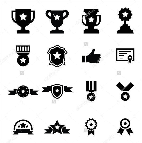Black and White Award Icon