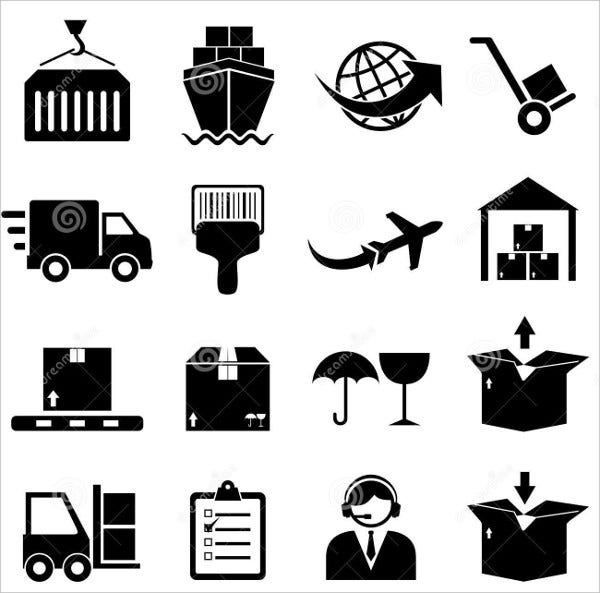 Cargo and Shipping Icon