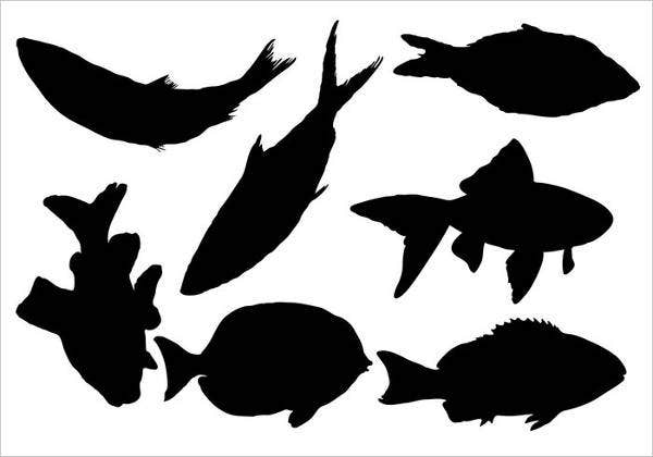 fish silhouette vector