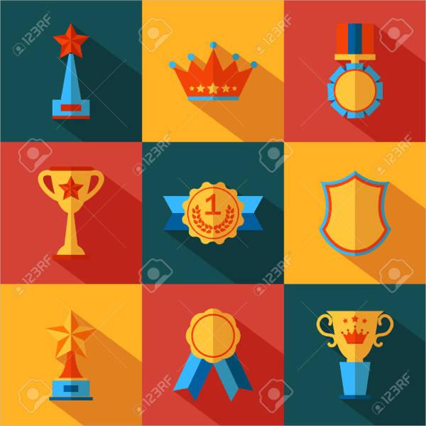 Modern Flat Award Icon
