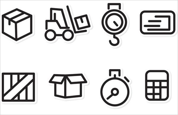 Logisstics and Shipping Icon