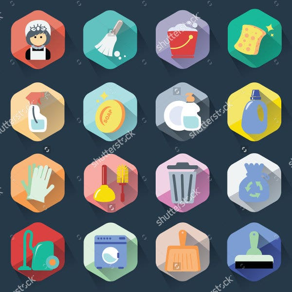 modern-flat-cleaning-icon