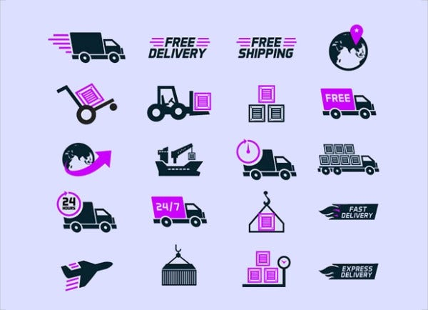 Shipping Delivery Vector Icon