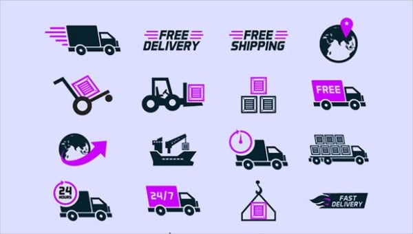 free shipping icons feature images