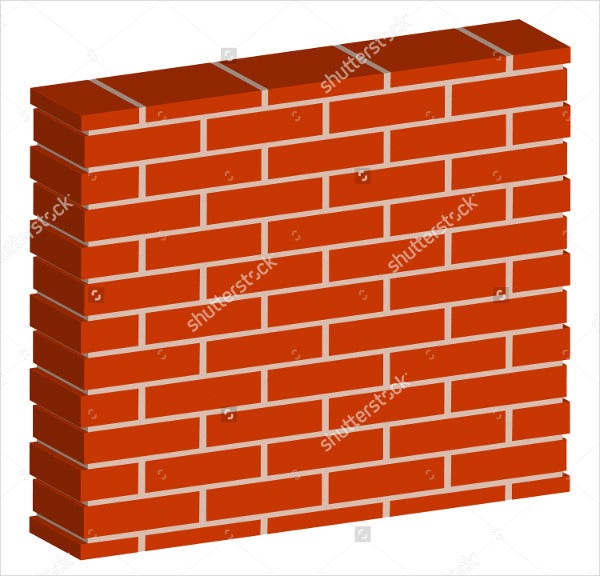 9 brick patterns psd vector eps png format download for Wall art templates free