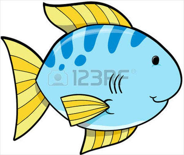 blue-fish-vector