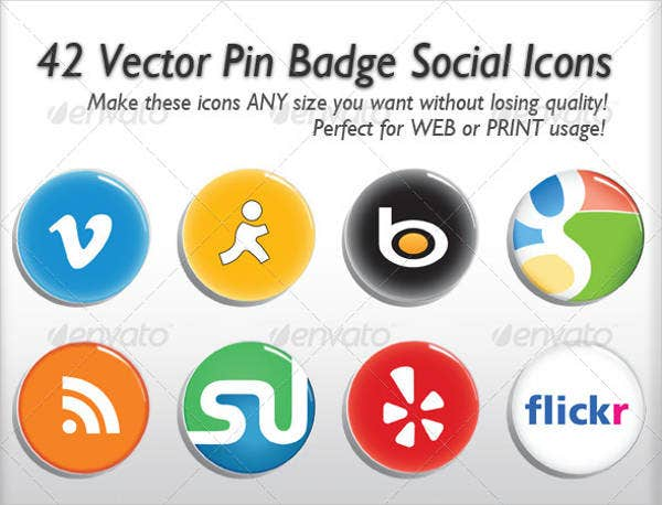 social media round icon