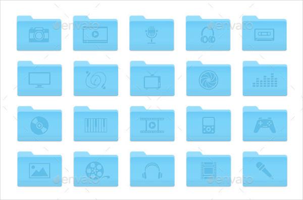 Multimedia Folder Icons