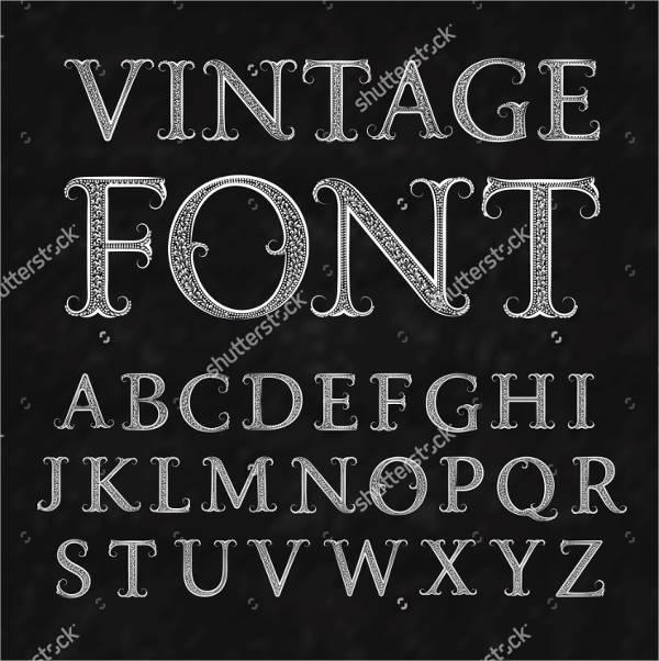Capital Vintage Alphabet Letter