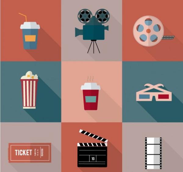 movie icon vector