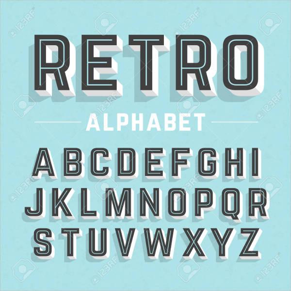 Vector Vintage Alphabet Letter