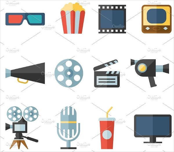 Modern Flat Movie Icon