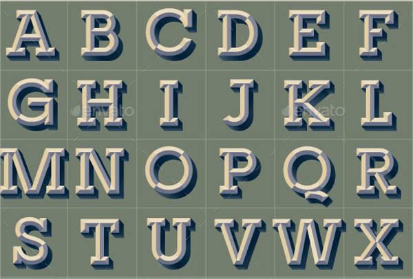 Vintage Alphabet Letter Clip Art