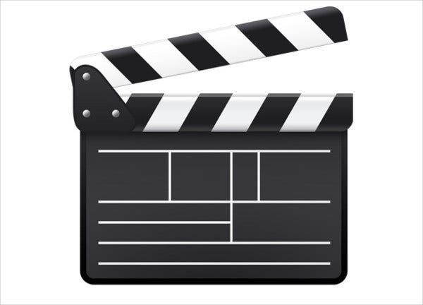 Black and White Movie Icon