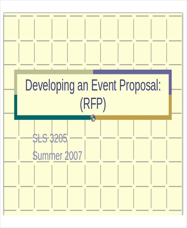 event proposal presentation template