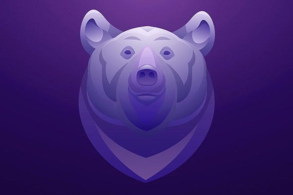 Bear Face Illustration