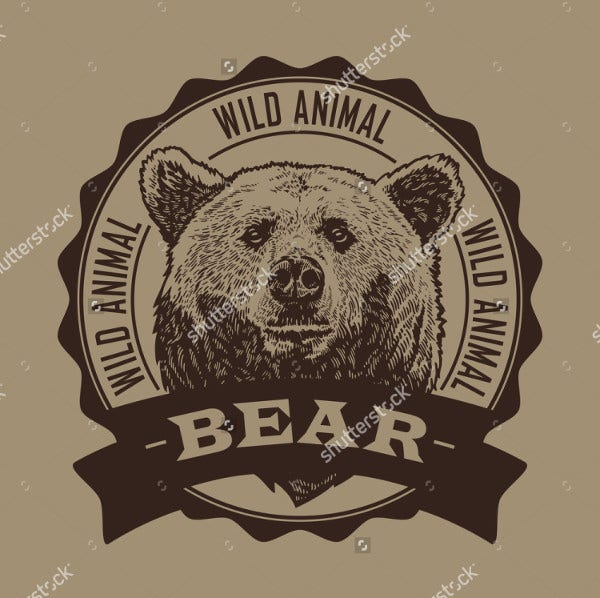 Bear Head Illustration