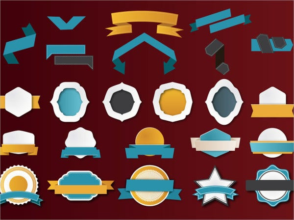Ribbon Badge Vector