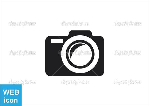 camera silhouette vector