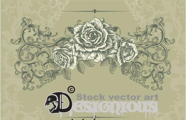 vintage flower illustration1