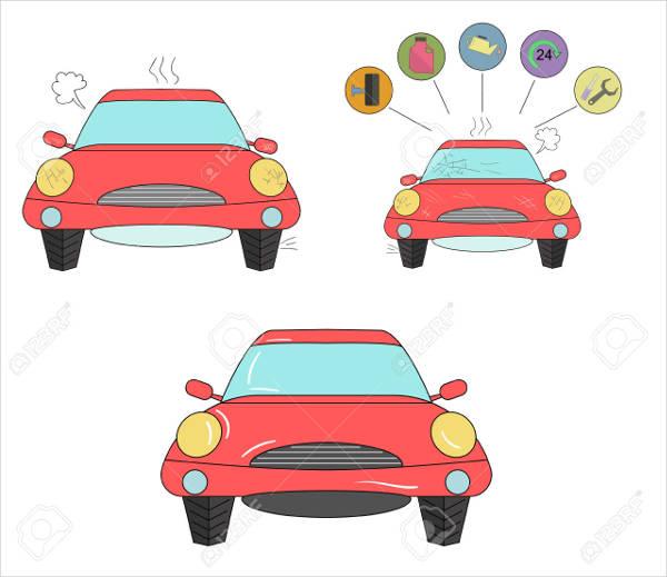 doodle car vector