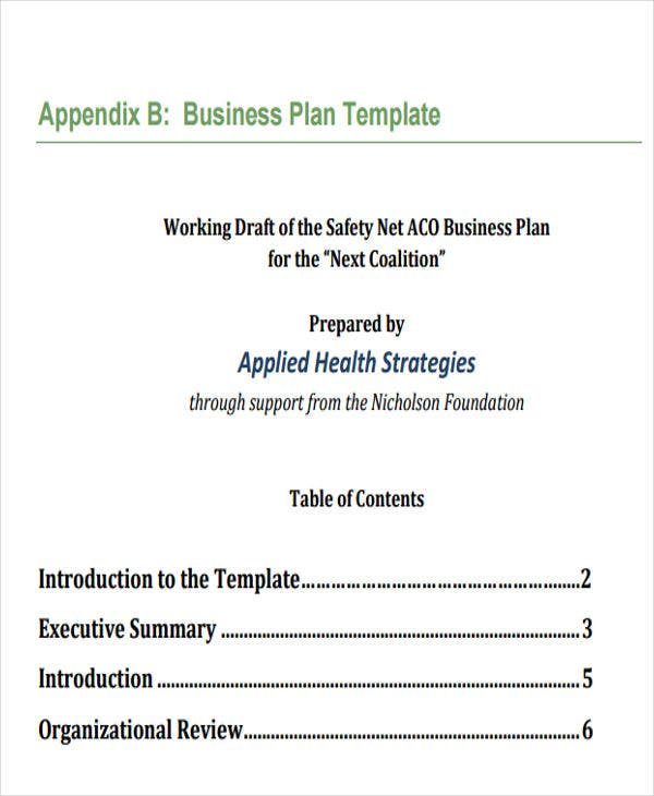 Health Care Plan Templates 8 Free Word Pdf Format Download
