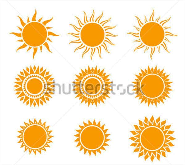 sun illustration vector