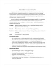 student-self-assessment-template