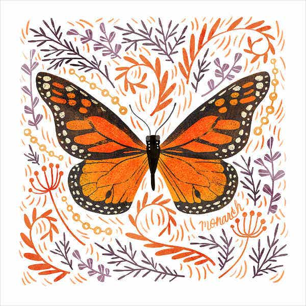 Cute Butterfly Illustration