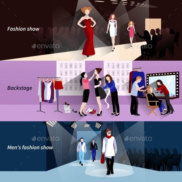 fashion banner illustration