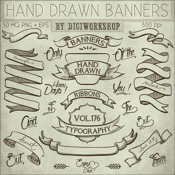 hand drawn banner illustration