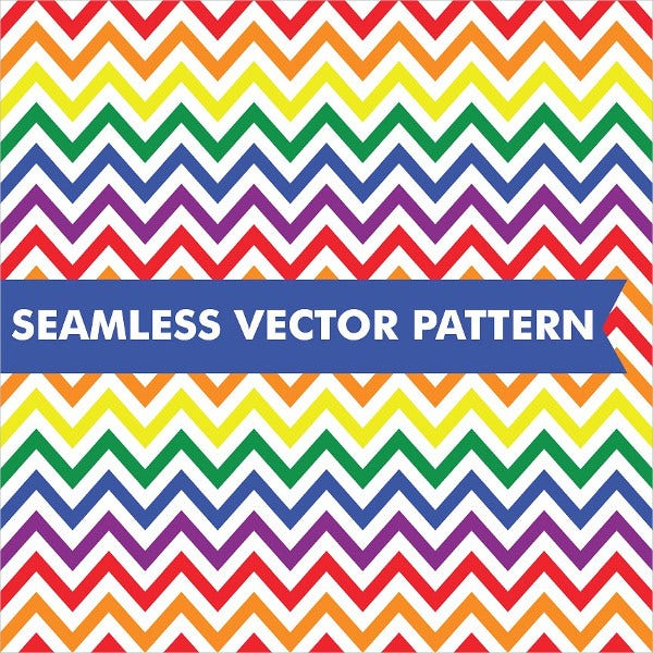 Rainbow Chevron Patterns