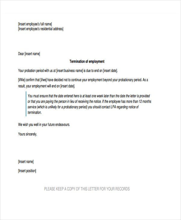 Final Warning Letter Template   Free Word Pdf Format