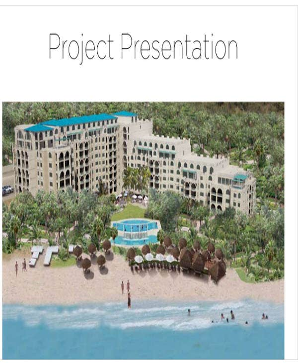 real estate project presentation template