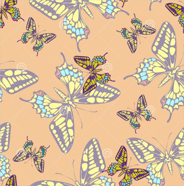 Pastel Butterfly Pattern