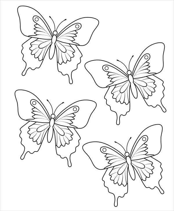 Printable Butterfly Pattern