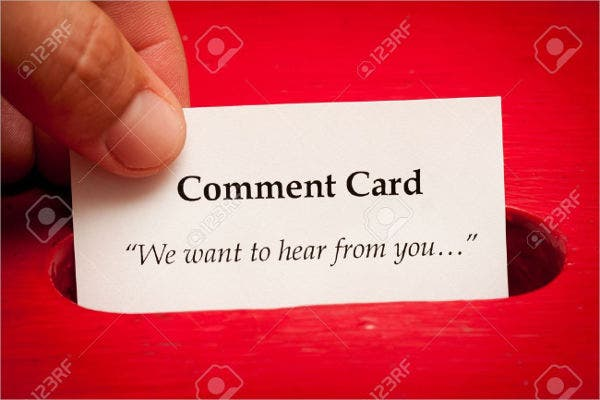 free-customer-comment-card-template