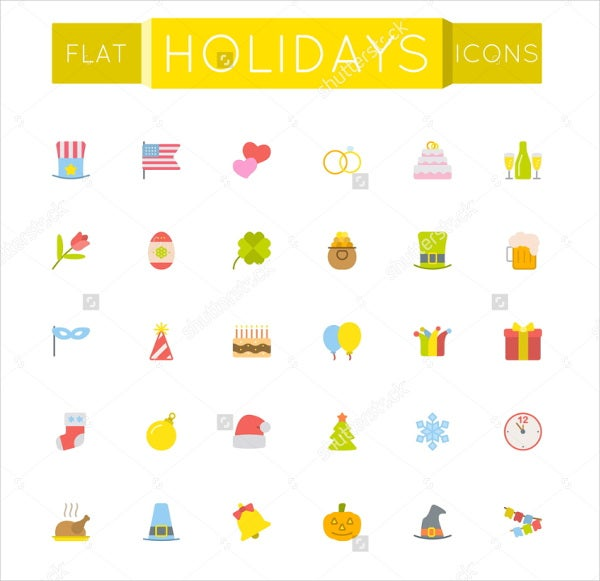 modern flat holiday icon