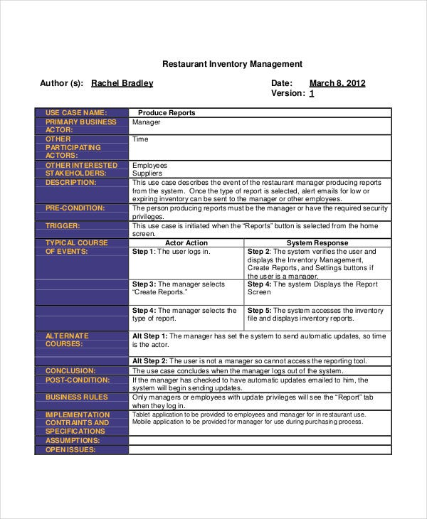 Restaurant Inventory List Templates 5 Free Word PDF Format – Inventory List Format