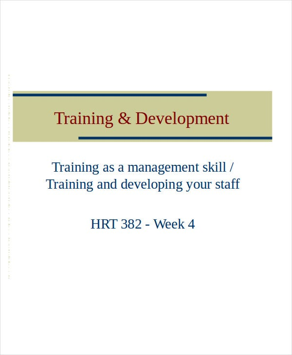 training and development presentation template