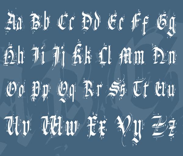 stamp-alphabet-font