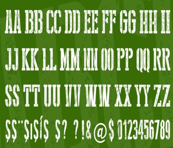 Stamp Stencil Font