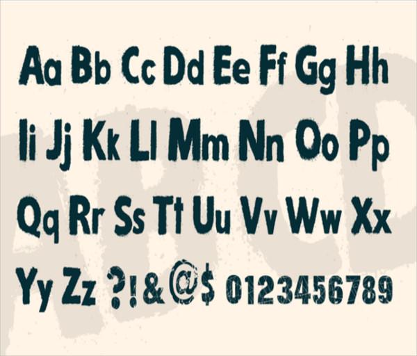snow alphabets font1