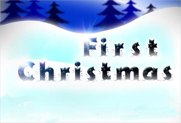 christmas snow font1