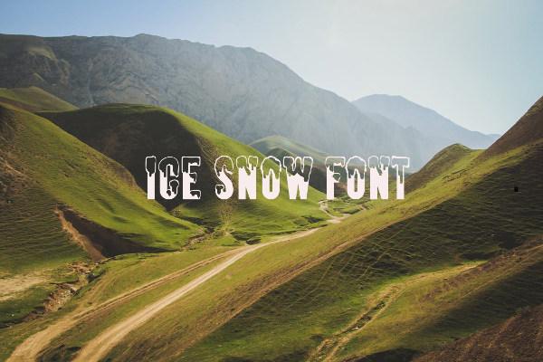 ice snow font1