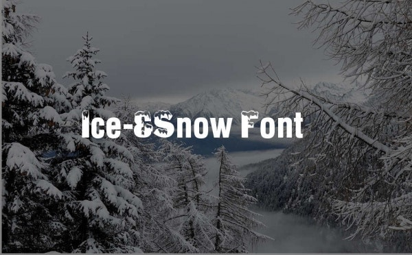 snow-writing-font