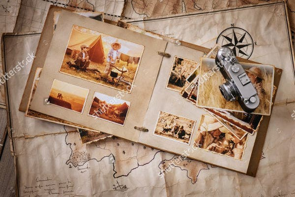travel scrapbook album template