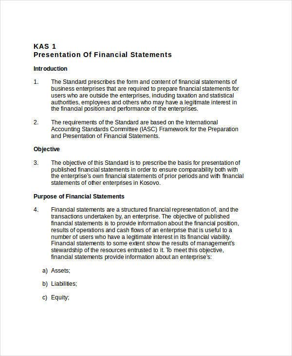 Financial Presentation Templates - 7+ Free Excel, Pdf, Documents