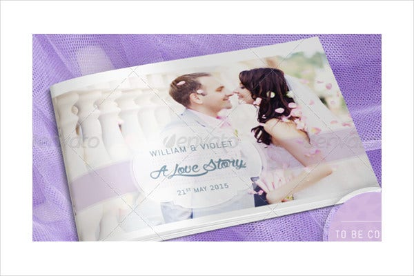 engagement photo album template