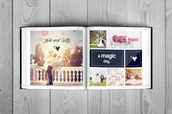 vintage engagement album template